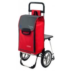 Wózek na zakupy Aurora Relax Czerwony