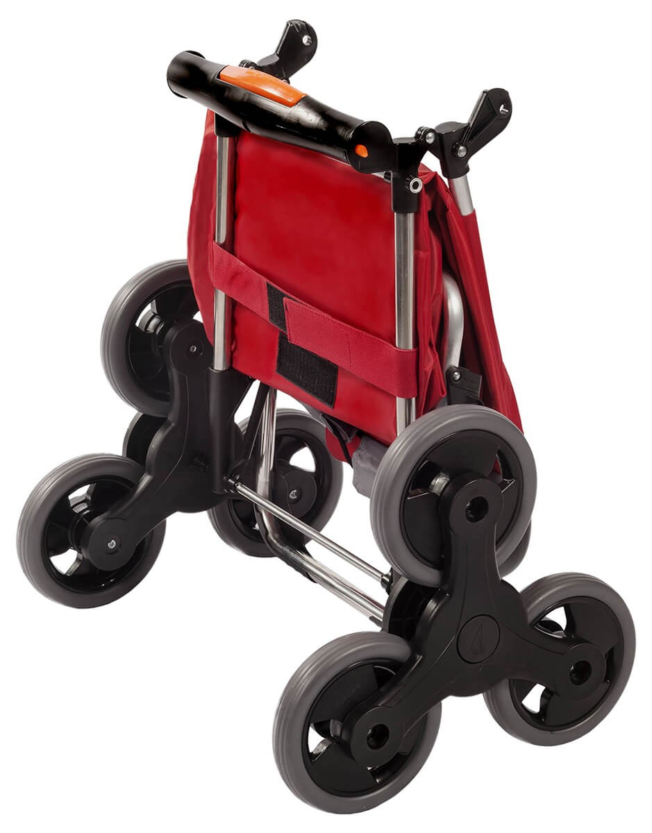 Złożony wózek na zakupy Aurora Amalfi Click Czerwony